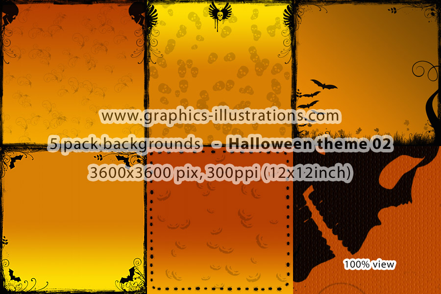 5 Pack Halloween Backgrounds 02