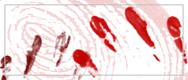 Bloody fingerprints Photoshop brushes