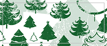 Christmas trees grunge Photoshop brushes (free download)