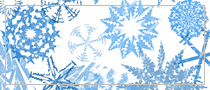 Grunge Snowflakes, Photoshop brush