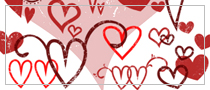 Photoshop Hearts brushes