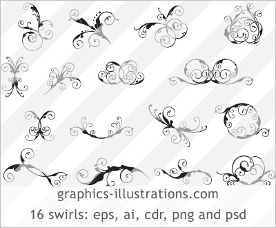 And Premium Swirls design package that contains 16 swirls offered in