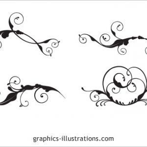 Fast Results – Swirls in Illustrator, CorelDraw! and Photoshop formats