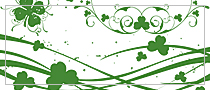 7 lite edition St. Patricks day Photoshop brushes (Photoshop 7.0, CS, CS2, CS3, CS4, CS5)
