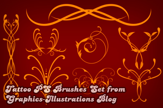 Tattoo Designs Photoshop Brushes set