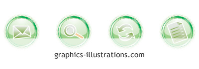 LITE Web 2.0 vector Icons set - green - free download (4 icons in .eps, .ai, .cdr format)