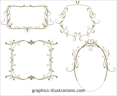 Cool Frames For Photoshop Swirled Frames Photoshop