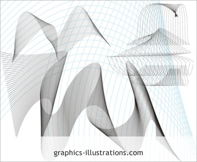 Lite edition: Fractals - set of 3 Photoshop brushes (Photoshop CS3 compatible - free download)