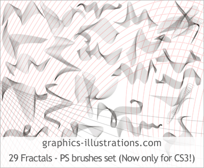 Premium edition: Fractals - set of 29 Photoshop brushes (Photoshop CS3 compatible)