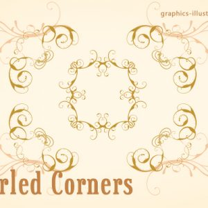 Fast Track to Great Designs – Corner swirls, PS brushes set