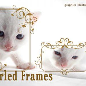 Swirled frames, Photoshop brushes set