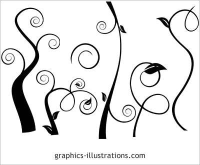 Swirls II Photoshop Brushes LITE edition (6 brushes free download – GBG