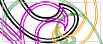 Outlined Swirls, PS brushes set