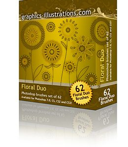 Photoshop Brushes Floral DUO Set – A Whole New Concept