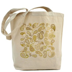Paisley Designs Tote Bag