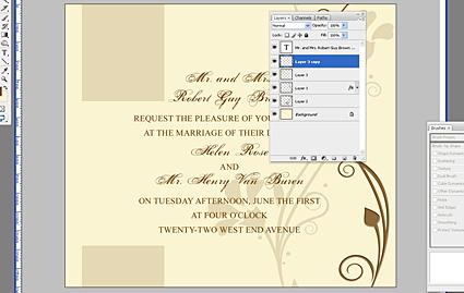 Wedding Invitation Tutorial