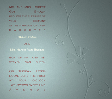Photoshop wedding brushes, wedding invitation