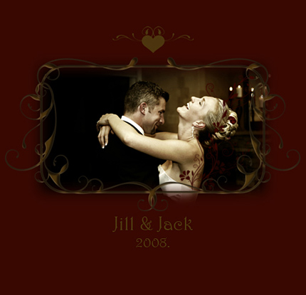 Wedding photo album cover. If you're not a graphic designer or if you are