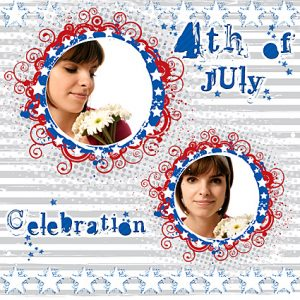 Digital Scrapbook Quick Page Free Download: 4th of July Quick Page Design