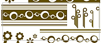 Retro Shapes Photoshop Brushes set