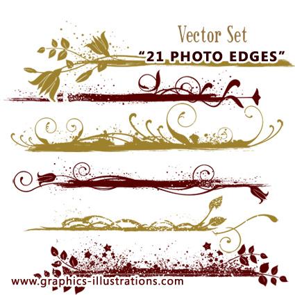 photo edges vectors