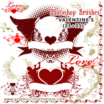 Valentine's Photoshop Brushes