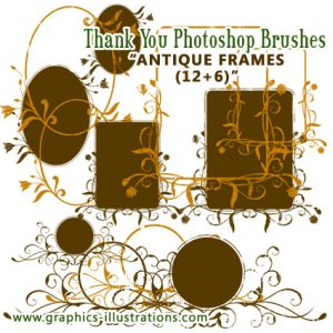 "Why am I sending my ""Antique Frames"" Photoshop brushes by mail, personally"