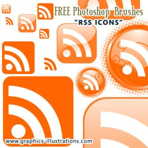 """""""RSS Icons"""" Photoshop Brushes Set"""