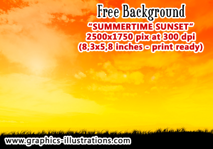 Free Summertime Sunset Background