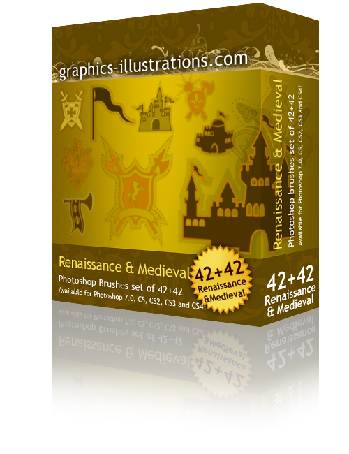 Renaissance & Medieval Photoshop brushes set
