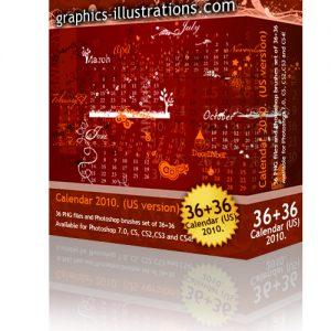 2010. Calendar Photoshop brushes set!