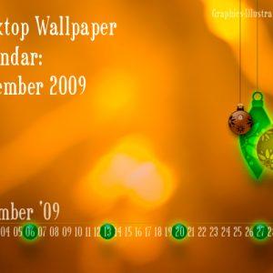 Photoshop brushes in Action: Desktop Wallpaper Calendar – December 2009