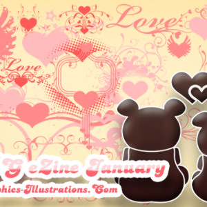 Valentine's Day Photoshop brushes in GBG eZine