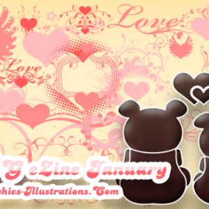 Valentine's Day Photoshop brushes in GBG eZine