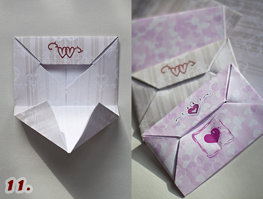 Now fold left and right sides inwards. How to Make an Envelope