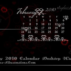 February 2010 Desktop Wallpaper Calendar