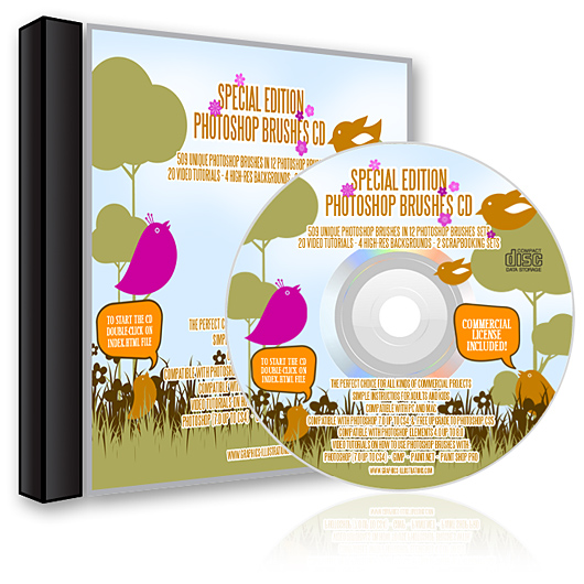 The Graphics-Illustrations.Com Photoshop brushes CD - Special Edition
