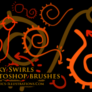 Funky Swirls, Photoshop brushes