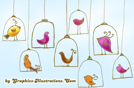 Doodle Birdies Digital Stamps