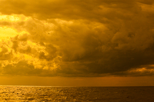 Clouds over sea photography