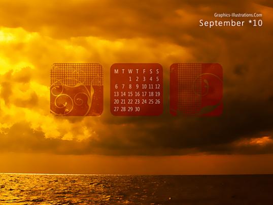 September Desktop Wallpaper Calendar