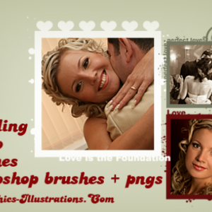 Wedding Photo Frames – Digital Stamps (free download included)