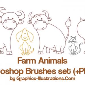 Farm Animals – Commercial Use Photoshop brushes