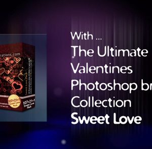 Valentines Day Photoshop brushes Video Trailer
