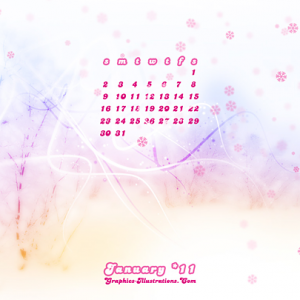 Free download: January 2011 Desktop Calendar Wallpaper