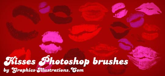 Kisses Photoshop brushes