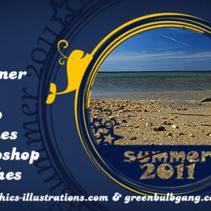 Summer 2011 Photo Frames, Photoshop Brushes