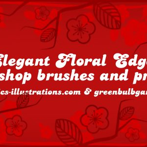 New Photoshop Brushes Set: Elegant Floral Edges