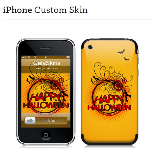 iPhone Skin Designs, Happy Halloween 2011 using Photoshop brushes