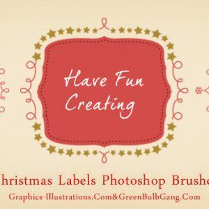 Do It Yourself – Christmas Labels (Free Photoshop Brushes set)